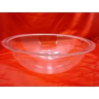 China Eco-friendly Round Bottom Clear Acrylic Bowl 280 / 250 * 110mm wholesale