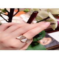 China 18KT Yellow Gold Diamond Pave  Divas Dream Ring With White Mother Of Pearl wholesale