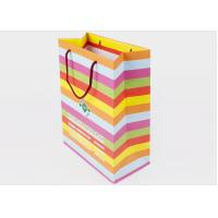 China Multi Colors Printed Paper Shopping Bags Customized Logo For Gift Packing wholesale