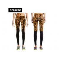 China Sublimation Printed Leopard Leg Compression Pants With Custom Label OEM wholesale