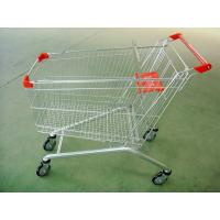 China Large Scale Shopping Malls / Supermarket Shopping Carts Trolleys With Baby Seat wholesale