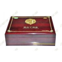 China Antique Wood Jewelry Packaging Box, Mdf Wooden Gift Boxes With Silk Screen on sale