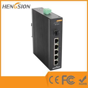 China 5 Megabit TX Port / 1 Gigabit SFP FX 5 Port Industrial Ethernet Network Switch / 5 Port Poe Switch wholesale