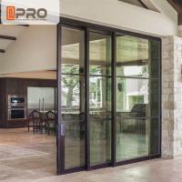 China Interior Aluminium Sliding Doors With Glass Inserts For Living Room wholesale