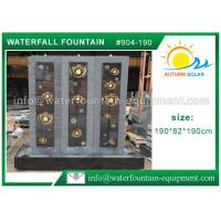China High Grade Cast Stone Outdoor Fountains With LED Lights / Energy Efficient Water Pump wholesale