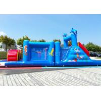 China 14 M Long Inflatable Tunnel Outdoor Obstacle Course Equipment Electric Blower wholesale