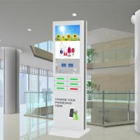 China Coin Operated Mobile Phone Charging Station , Cell Phone Charger Kiosk on sale