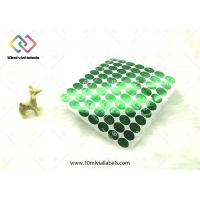 China Round Vinyl Hologram Security Stickers / Green Hologram Sticker Labels wholesale