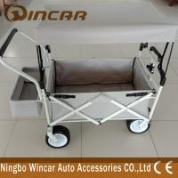 China Steel Frame 4x4 Off-road Accessories Gardon Folding Camping Wagon Pu Wheel wholesale