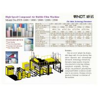 China Vinot DYF Series High Speed Compound Air Bubble Film Making Machine for width 2500mm DYF-2500 wholesale