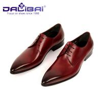 China Men's Italian design Genuine Leather Pointed Toe Wedding Formal Dress wholesale