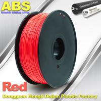 China 1.75mm /  3.0mm ABS 3d Printer Filament Red With Good Elasticity wholesale