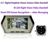 """China 4.3"""" LCD Electronic Door Peephole Viewer Camera Home Security DVR Night Vision Video Doorbell Door Phone Access Control wholesale"""
