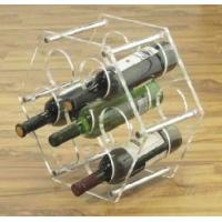 Quality Good Quality 5 Bottle Acryllic Wine Racks With Customer's Logo for sale