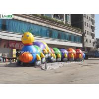 China Outside 18m Long Funny Caterpillar Inflatable Tunnels Double N Quadruple Stitching wholesale