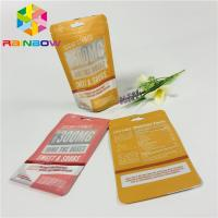China Reusable Plastic Stand Up Zipper Pouch Bags Matt Finished With Front Clear Window wholesale