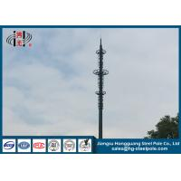 China ISO 9001 Polygonal Steel Tubular Cell Phone Monopole Towers Q355 H30m wholesale