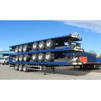 China 13m Extendable air suspension 60t Flat Bed Semi Trailer for transporting 20ft 40ft 45ft wholesale
