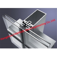 China Hidden Frame 8mm 12A/16A 8mm Glass Curtain Wall Facade For Commercial Building wholesale