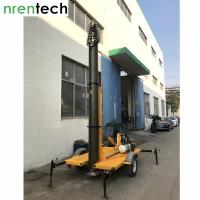 30m Lockable Pneumatic Telescopic Mast-15kg payload for mobile antenna / mobile radio broadcasting-NR-4400-30000-15L