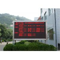 China Single Color LED Message Board P10 Outdoor , Programmable LED Signs wholesale