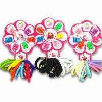 China Childrens' Hair Accessory Set with Hair Claw and Elastic Band, Available in Various Colors wholesale