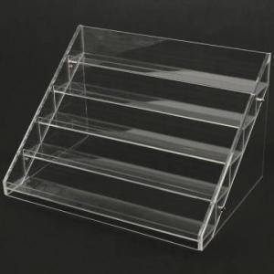 Quality 13 Years Factory Clear Acrylic Nail Polish Table Display Rack / Acrylic Nail Polish stand for sale