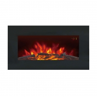 China 36 INCHES WALL MOUNTED FIREPLACE HEATER EF820 PATENTED LED REAL FLAME WOODEN BURNING LOGSET EFFECT ROOM HEATER wholesale