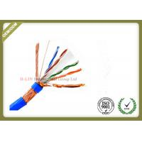 China SFTP 23AWG 4Pairs 8 Conductors Indoor CAT6 Network Lan Cable with  Bare Copper  PVC/LSZH Jacket wholesale