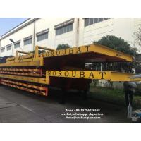 China Heavy Duty Used Truck Trailers , Lowboy Low Bed Semi Second Hand Truck Trailers on sale