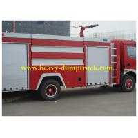 China Sinotruk Fire Engine Vehicles Red Flame on Road 6X4 / 4X2  BV / ISO wholesale