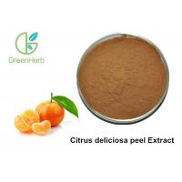 Quality Brown Yellow Citrus Peel Powder / Citrus Extract Powder Increases Metabolism for sale