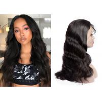 China Body Wave Natural Lace Front Wigs / 180% Density Half Lace Front Wigs wholesale