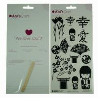 China Scratch transfer tattoo sticker/rub-on body tattoo, safe and nontoxic, easy-to-apply and -remove wholesale