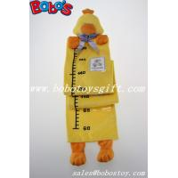 China Hang Baby Yellow Duck Height Measurement Plush Animal Growth Chart wholesale