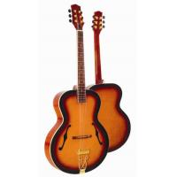 Buy cheap Deluxe F Hole Whole Solid Wood Acoustic Guitar / Western Guitar Professional from wholesalers