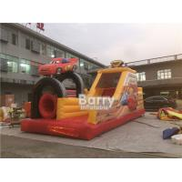 China Double Car Inflatable Obstacle Course For Adults Rental Outdoor Extreme Sport Games wholesale