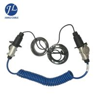 China Trailer Car Reverse Camera Cable Kits 7 Pin With Spring Coiled Electrical Wire Connect wholesale