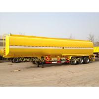 China 45 M3 Three Axles Oil Tank Small Semi Trailer Truck Yellow And White Color wholesale