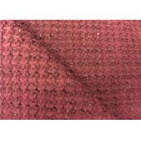 China Good Looking Dark Red Wool Blend Fabric With Soft Handfeeling wholesale