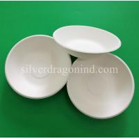 China Biodegradable Disposable Sugarcane Pulp Paper Bowl, Food Grade, 460ml wholesale