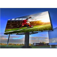 China Full Color Outdoor Fixed LED Display Screen P6mm Billboard 6500cd/sqm Brightness wholesale
