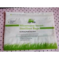 China high temperature microwave steam steriliser bags/zipper plastic microwavable pouch wholesale