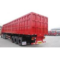 China Hydraulic Cylinder Heavy Duty Dump Truck Trailer 3 Axles For Sand Stone Transportion wholesale