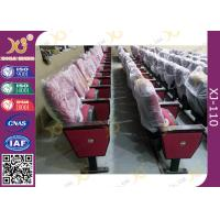 China Red Church Hall Theater Room Seating With Row Number Rubber Wood Arm Rest on sale