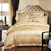 China Rose Golden 400T Jacquard Bedding Set /  Non - Pilling Hotel Collection Bed Linen wholesale