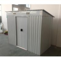 6x4 8x4 flat roof garden shed pent metal sheds with 2 for Garden shed 6x4 sale