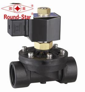 "China Black Directional Water Air Plastic Solenoid Valve , Corrosive Liquid Solenoid Valve 3/4"" wholesale"