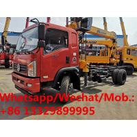 China customized high quality and best price Dongfeng YUHU 4*2 LHD Euro 5 6.3ts truck with crane, cargo truck with crane on sale