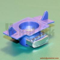 Zinc plated steel struct nut with plastic wing for channel fitting